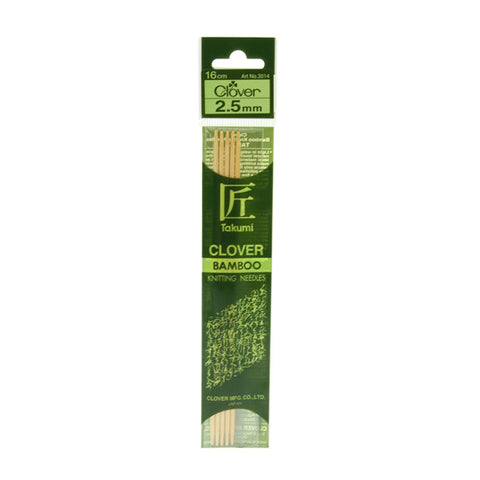 Clover Takumi Bamboo Knitting Needles - 2.5mm - 5pk