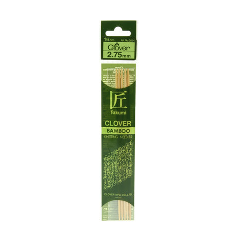 Clover Takumi Bamboo Knitting Needles - 2.75mm - 5pk