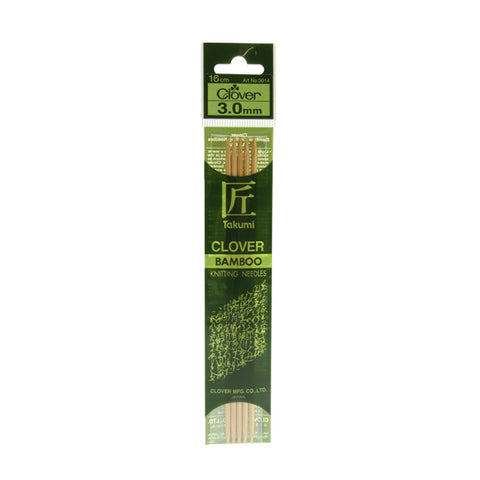 Clover Takumi Bamboo Knitting Needles - 3.0mm - 5pk