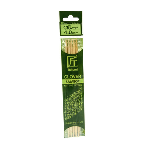 Clover Takumi Bamboo Knitting Needles - 4.0mm - 5pk