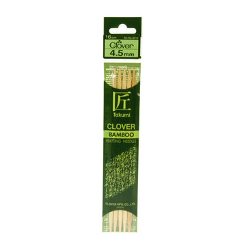 Clover Takumi Bamboo Knitting Needles - 4.5mm - 5pk