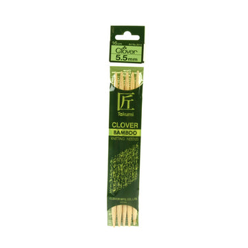 Clover Takumi Bamboo Knitting Needles - 5.5mm - 5pk