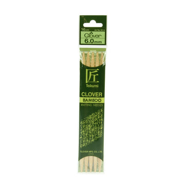 Clover Takumi Bamboo Knitting Needles - 6.0mm - 5pk