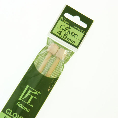 Clover Takumi Bamboo Knitting Needles - 4.5mm - 2pk