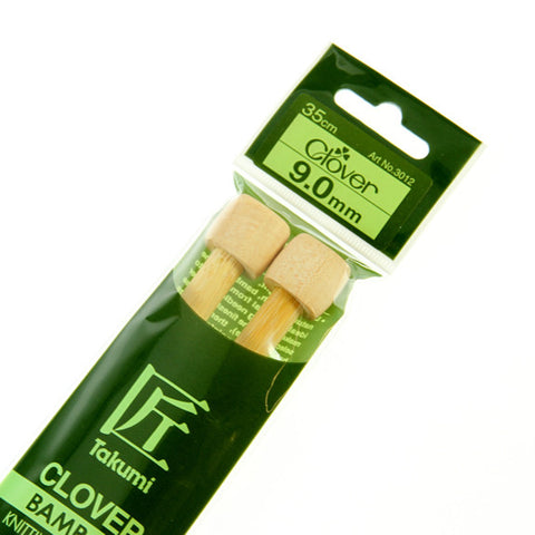 Clover Takumi Bamboo Knitting Needles - 9.0mm - 2pk