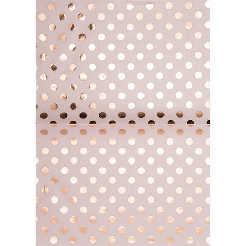 Paper Patch Hot Foil Dots Rose