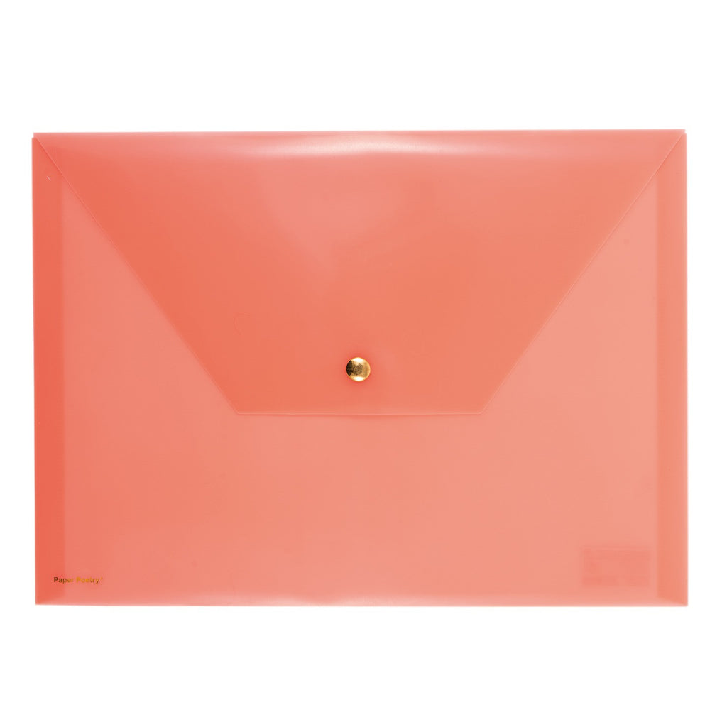 Document Folder Neon Orange