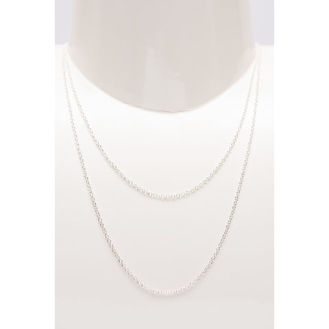 Chain Short And Long Silver