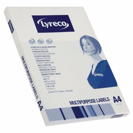 Lyreco White Laser Printer Labels 38.1mm x 21.2mm - Box of 6500