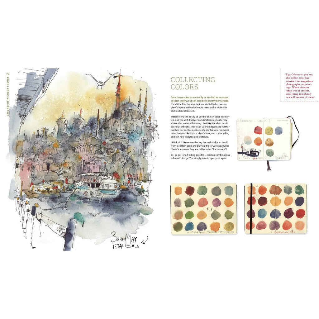 Urban Watercolor Sketching A Guide to Drawing Painting and