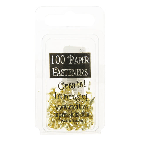 Mini Metal Paper Fasteners 5mm Gold - 100pk