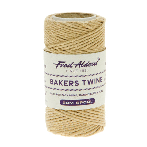 Fred Aldous - Solid Bakers Twine - Blonde - 20mt