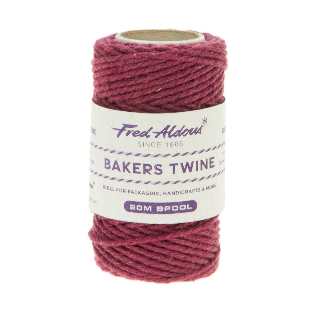 Fred Aldous - Solid Bakers Twine - Burgundy - 20mt