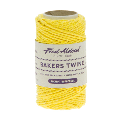 Fred Aldous - Solid Bakers Twine - Daffodil - 20mt