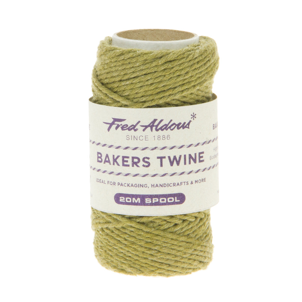 Fred Aldous - Solid Bakers Twine - Olive - 20mt