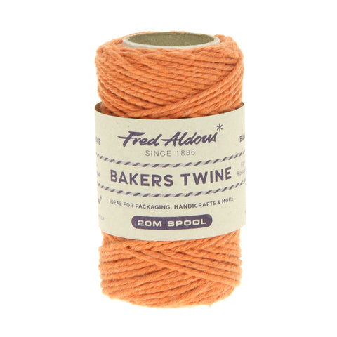 Fred Aldous - Solid Bakers Twine - Orange - 20mt