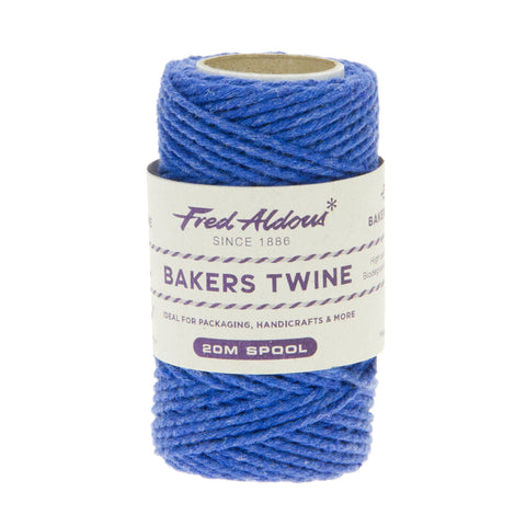 Fred Aldous - Solid Bakers Twine - Oxford Blue - 20mt