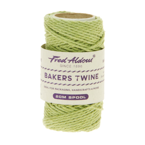 Fred Aldous - Solid Bakers Twine - Sage Green - 20mt
