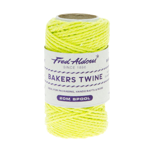 Fred Aldous - Solid Bakers Twine - Spring Green - 20mt