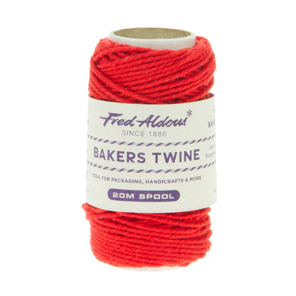 Fred Aldous - Solid Bakers Twine - Beefeater Red - 20mt