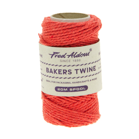 Fred Aldous - Solid Bakers Twine - Strawberry - 20mt