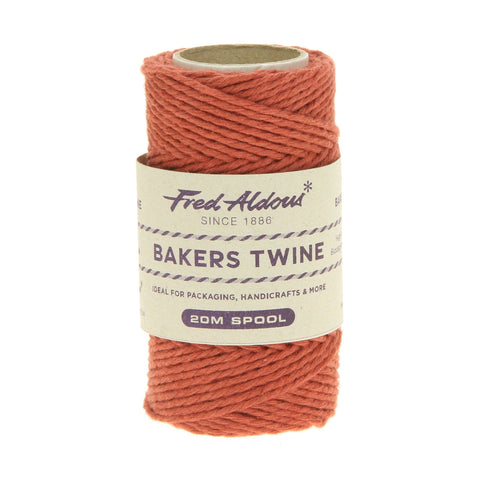 Fred Aldous - Solid Bakers Twine - Terracotta - 20mt