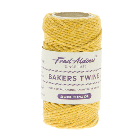 Fred Aldous - Solid Bakers Twine - York Gold - 20mt