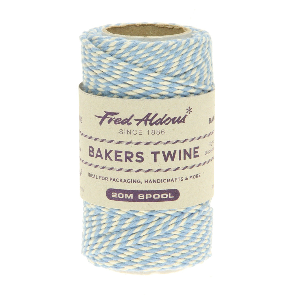 Fred Aldous - Original Bakers Twine - Sky Blue - White - 20mt