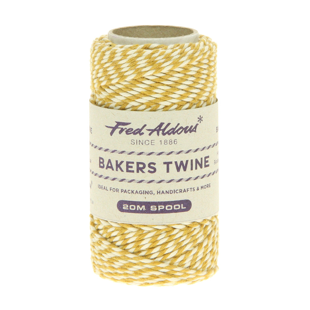 Fred Aldous - Original Bakers Twine - York Gold - White - 20mt