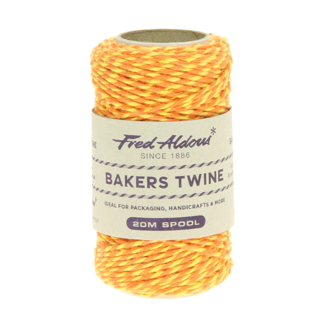 Fred Aldous - Two Tone Bakers Twine - Orange - Yellow - 20mt