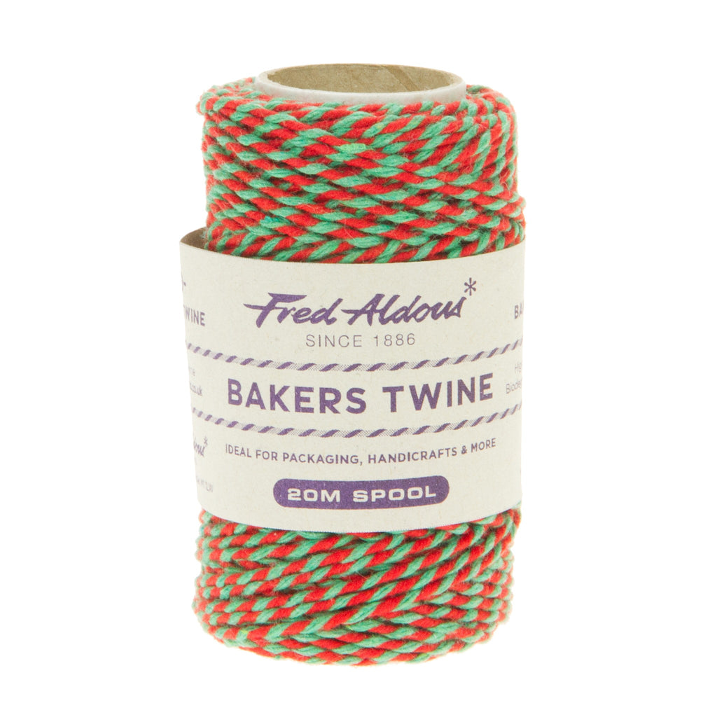 Fred Aldous - Two Tone Bakers Twine - Red - Green - 20mt