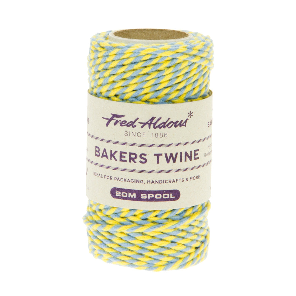 Fred Aldous - Two Tone Bakers Twine - Sky - Daffodil - 20mt