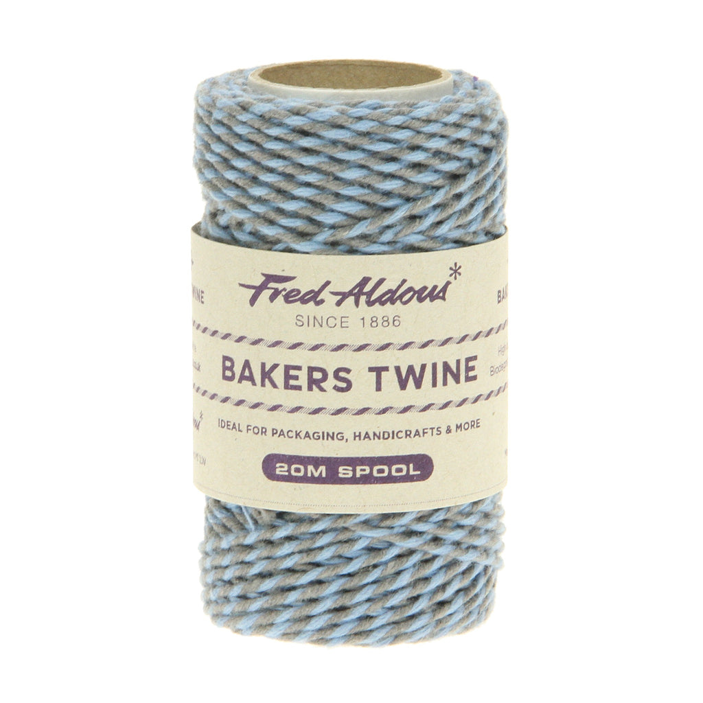 Fred Aldous - Two Tone Bakers Twine - Slate - Sky - 20mt