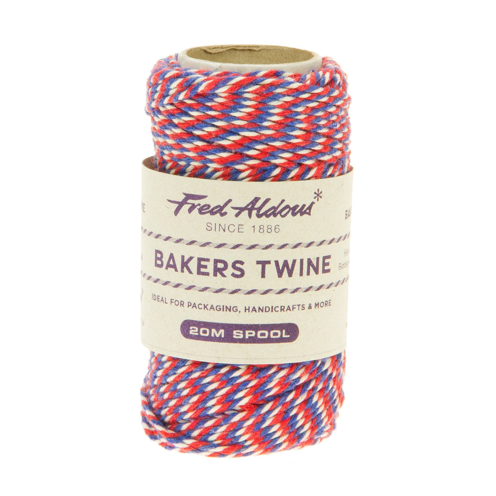 Fred Aldous - Tri Coloured Bakers Twine - Union jack - 20mt