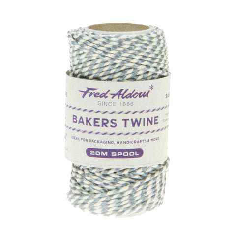 Fred Aldous - Metallic Bakers Twine - Silver Metallic - 20mt