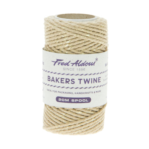Fred Aldous - Sparkle Bakers Twine - Gold Sparkle - 20mt