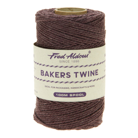 Fred Aldous - Solid Bakers Twine - Brown - 100mt