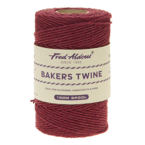 Fred Aldous - Solid Bakers Twine - Burgundy - 100mt