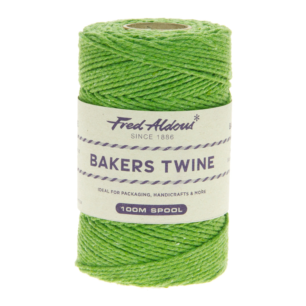 Fred Aldous - Solid Bakers Twine - Lime - 100mt