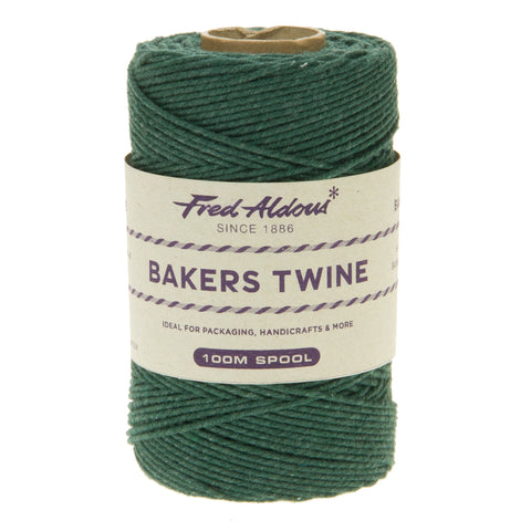 Fred Aldous - Solid Bakers Twine - Moss - 100mt