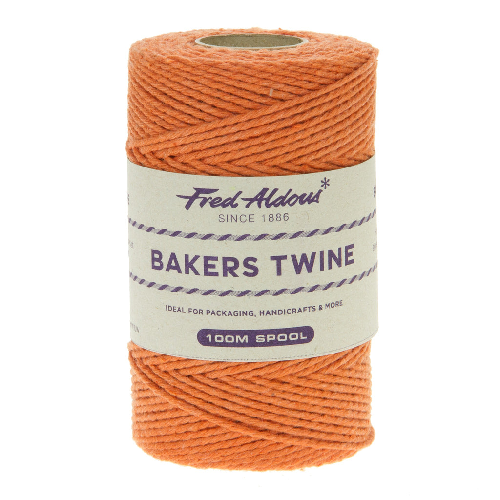 Fred Aldous - Solid Bakers Twine - Orange - 100mt