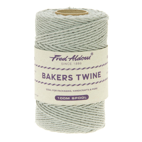 Fred Aldous - Solid Bakers Twine - Silver - 100mt