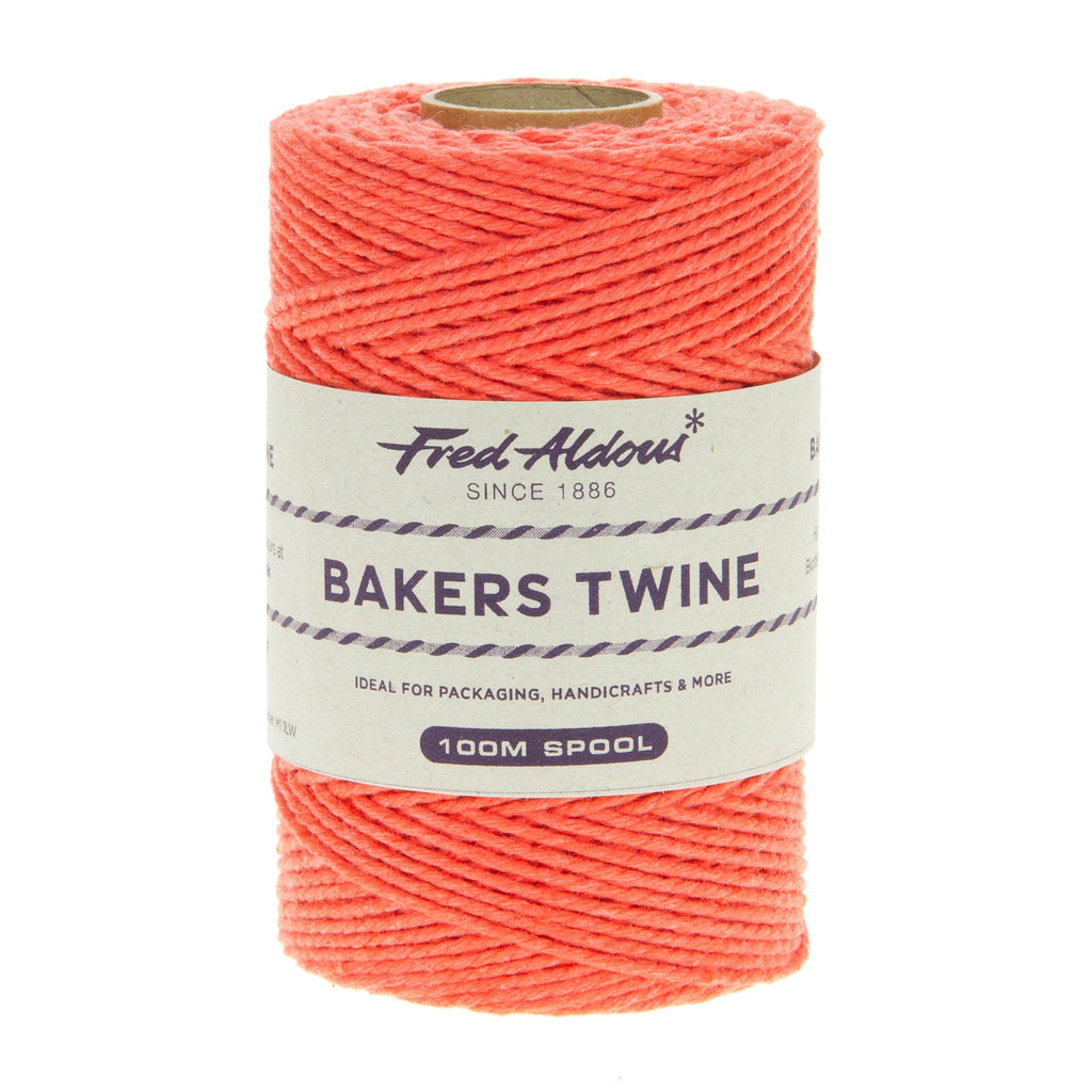 Fred Aldous - Solid Bakers Twine - Strawberry - 100mt
