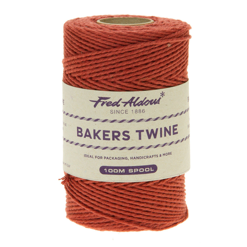 Fred Aldous - Solid Bakers Twine - Terracotta - 100mt