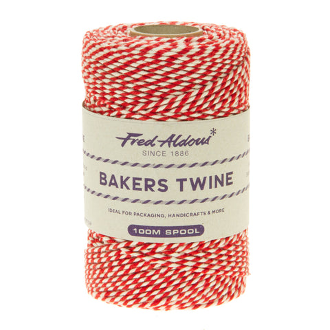 Fred Aldous - Original Bakers Twine - Beefeater Red - White - 100mt