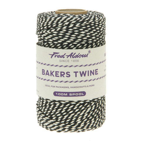 Fred Aldous - Original Bakers Twine - Black - White - 100mt