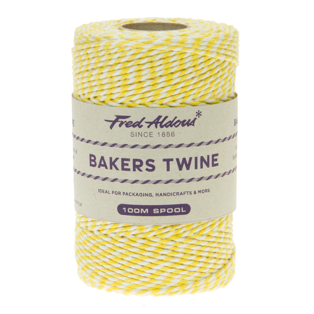 Fred Aldous - Original Bakers Twine - Daffodil - White - 100mt