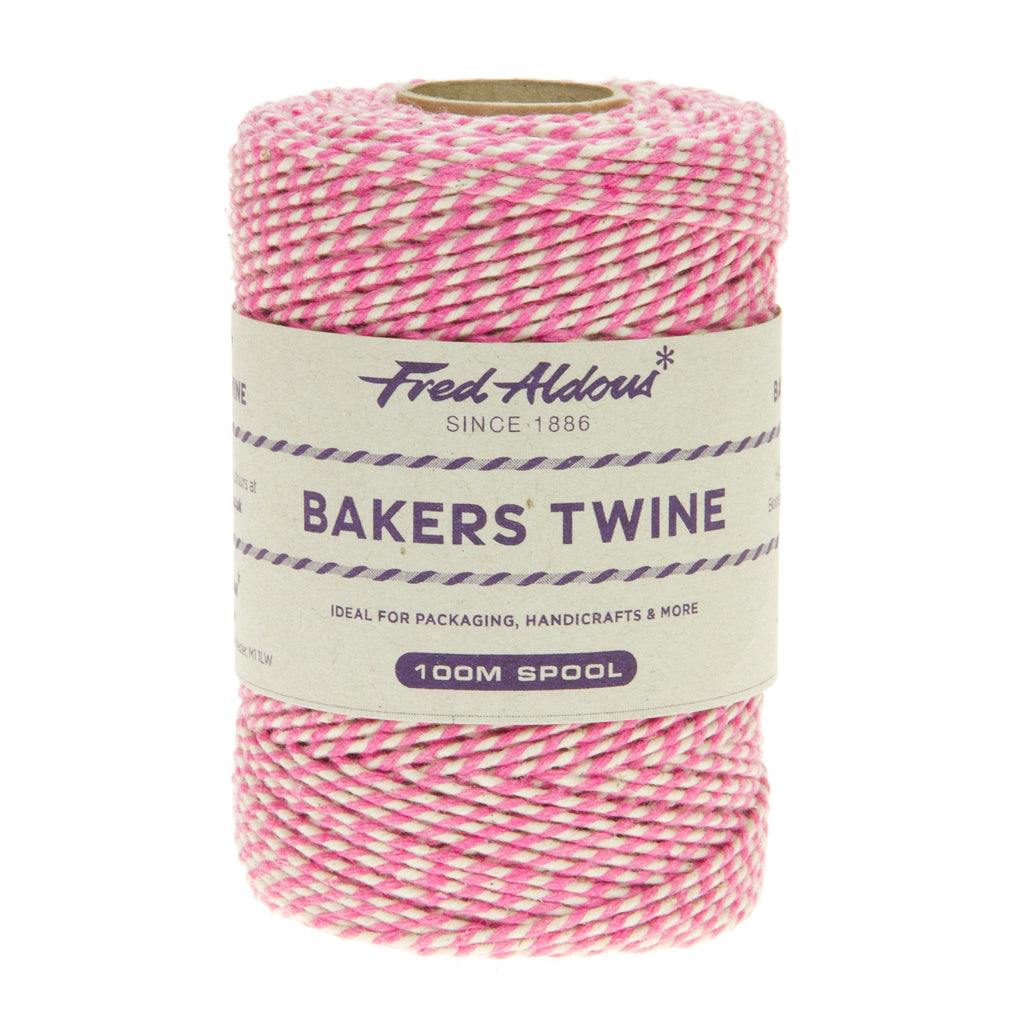 Fred Aldous - Original Bakers Twine - Fushia - White - 100mt