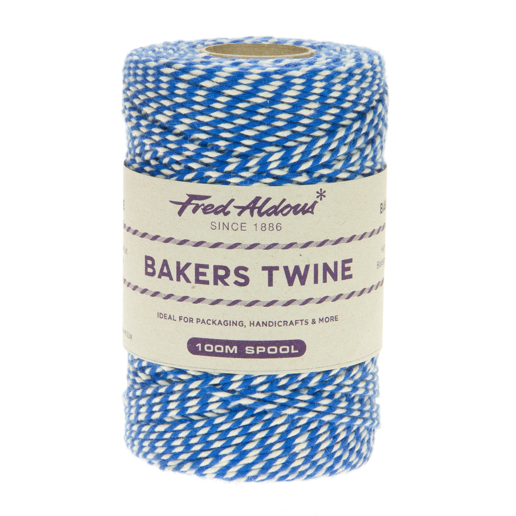 Fred Aldous - Original Bakers Twine - Oxford Blue - White - 100mt