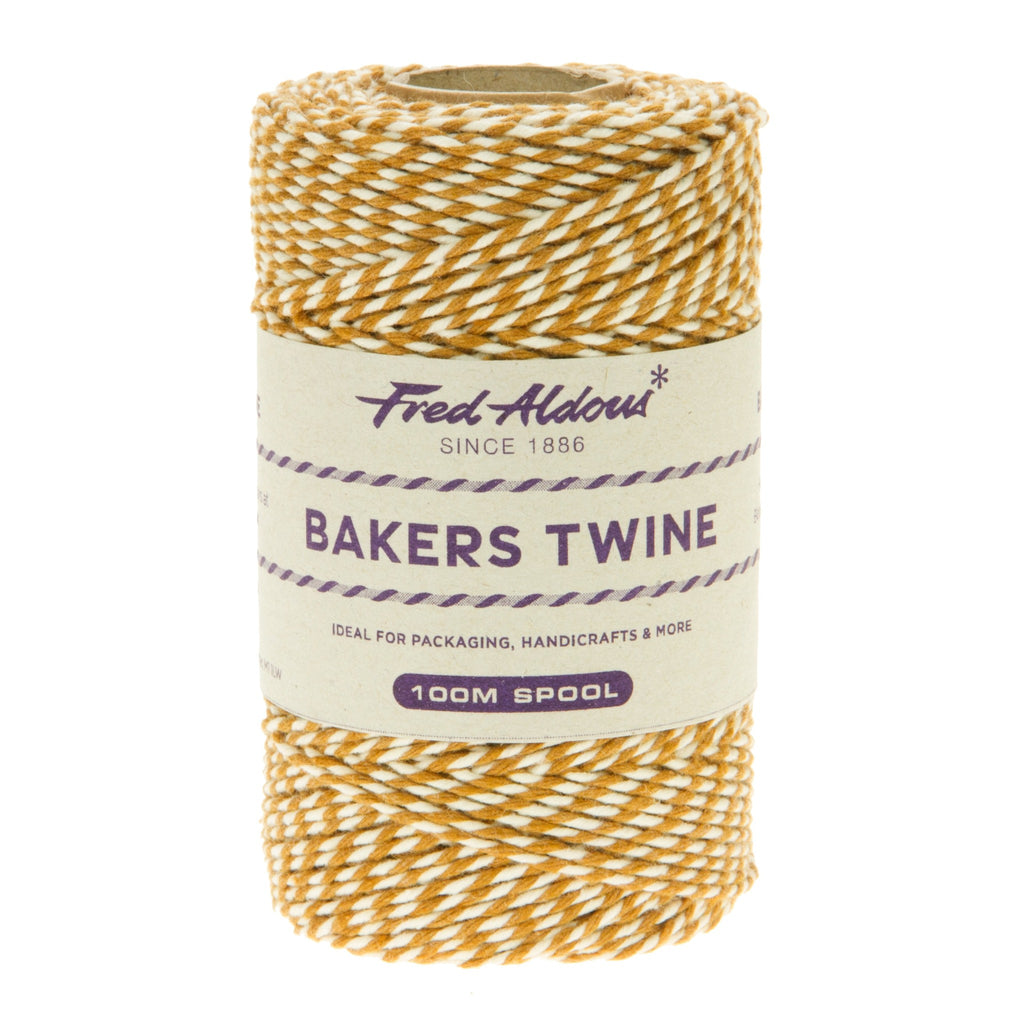 Fred Aldous - Original Bakers Twine - Sahara Sand - White - 100mt